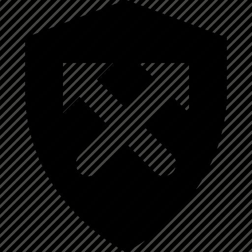antivirus, arrows, firewall, safety, shield icon