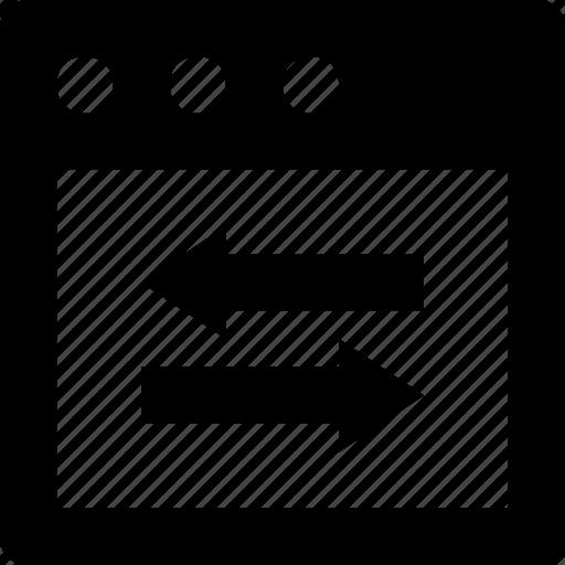 arrows, data exchange, exchange, web, webpage icon