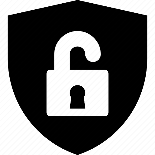 lock, privacy, protection, safety, shield icon