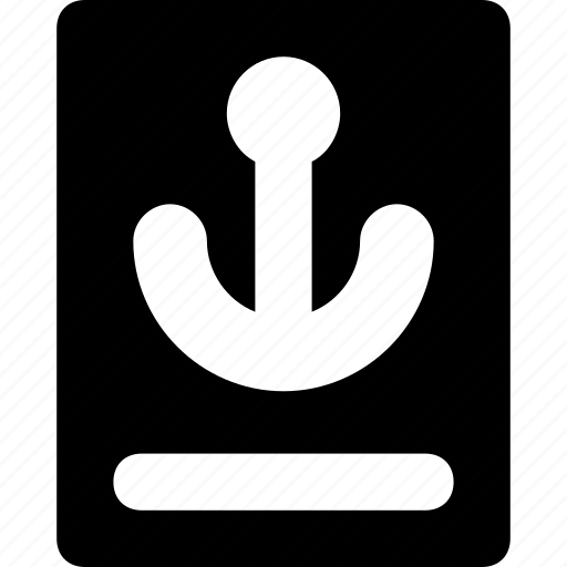 anchor, passport, ship, traffic, transport icon