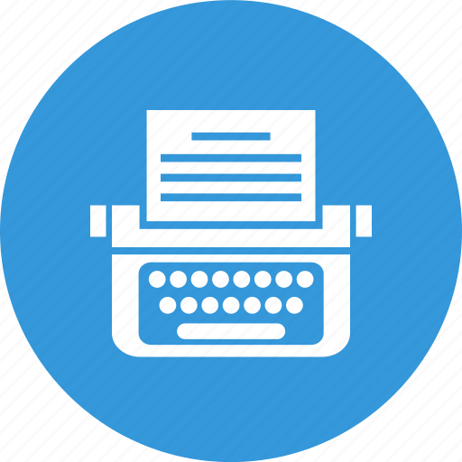content, copyright, typewriter, writing icon