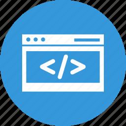 code, coding, custom coding, development, html, program, programming icon