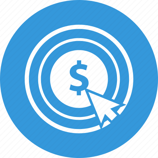 click, coin, mouse, pay, pay per clik icon