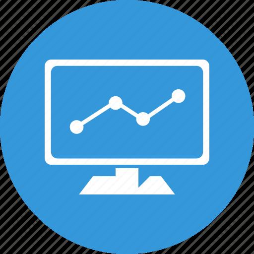 analysis, chart, diagram, graph, monitoring icon