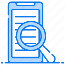 mobile browse, mobile discovery, mobile exploration, mobile search, smartphone research icon