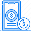 cash back, investment return, moneyback, refund, transaction fee