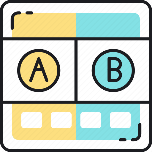 ab testing, experiment, hypothesis, marketing, research, test, testing icon
