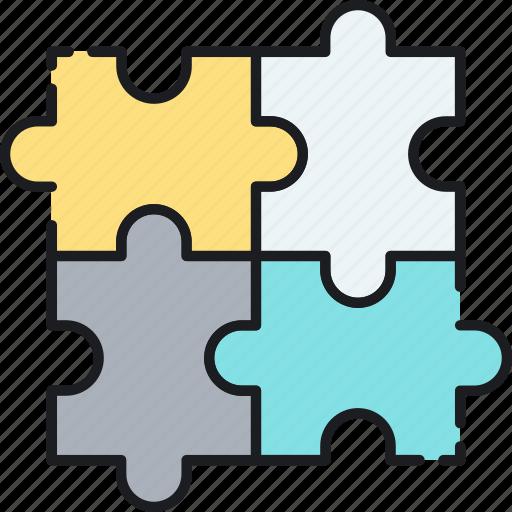 business, collaboration, integration, partner, partnership, puzzle, solution icon