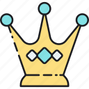 business, crown, king, leader, leadership, queen, strategy icon