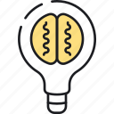 brainstorm, bulb, content, idea, lightbulb, marketing, seo icon