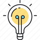brainstorm, bulb, creative, creativity, idea, innovation, light icon