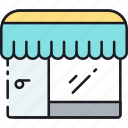 brick and mortar, discount, ecommerce, promotion, shop, shopping, store icon