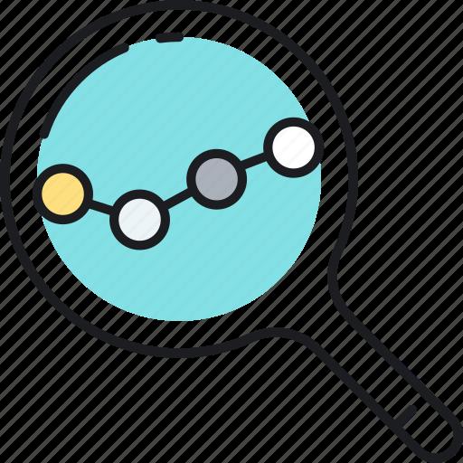 analysis, keyword icon