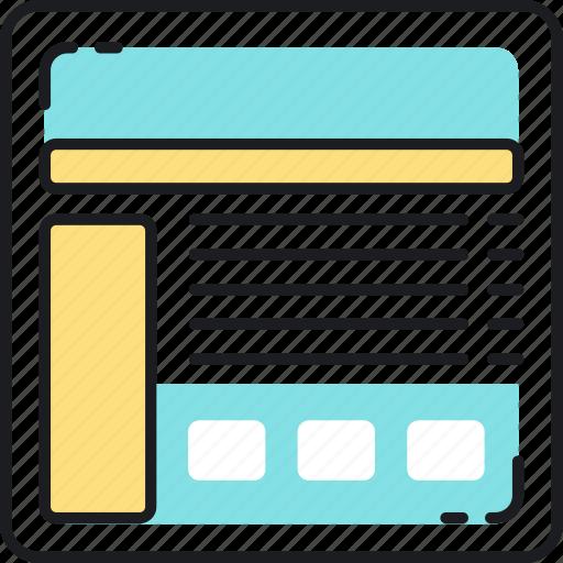 design, landing, layout, page, seo, web, website icon