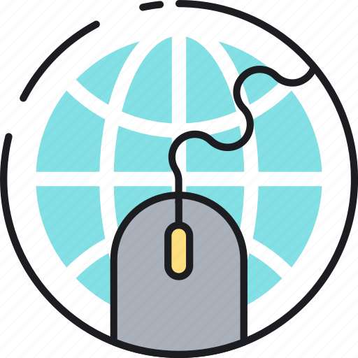 ecommerce, internet, mouse, network, online, presence, shopping icon