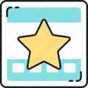 page, quality, rank, ranking, rate, rating, star icon