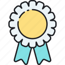 achievement, award, badge, medal, rank, reward, ribbon icon