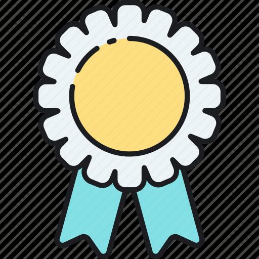 achievement, award, badge, medal, rank, reward, ribbon icon