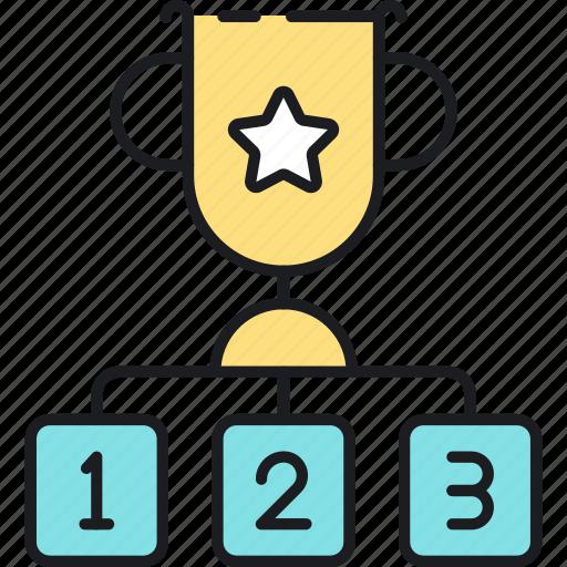 factor, rank, ranking icon