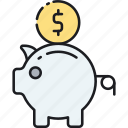bank, budget, finance, investment, piggy bank, roi, savings icon