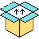 box, data, dropbox, hosting, package, parcel, storage icon