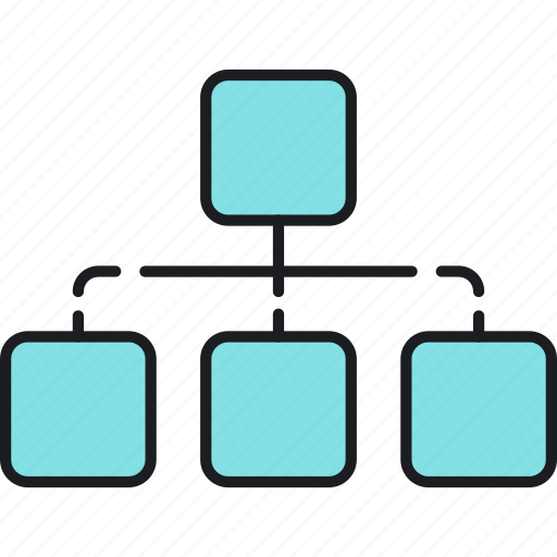 chart, diagram, flowchart, hierarchy, sitemap, structure, team icon
