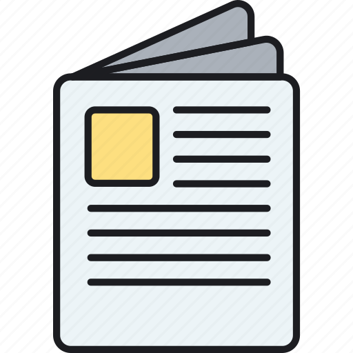 bibliography, book, newspaper, press, publishing, release icon