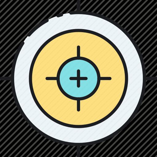 advertising, aim, focus, goal, keyword, marketing, target icon