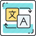 language, localization, translate, translation icon