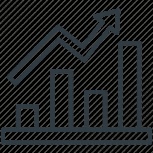 business chart, data chart, finance, graph report, growth chart icon