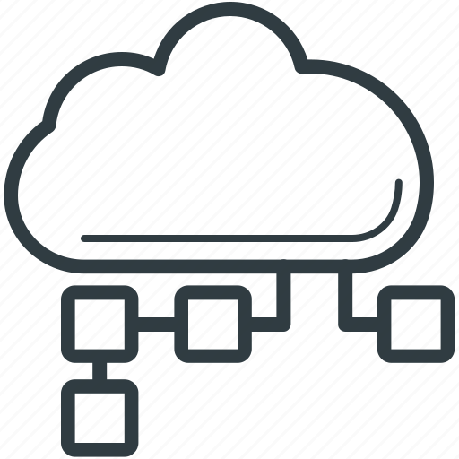 cloud computing, cloud hosting, cloud network, network sharing, share cloud icon