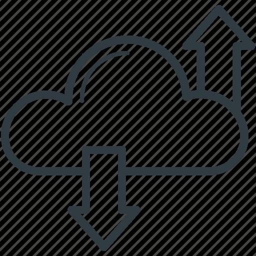cloud computing, cloud hosting, cloud network, download, upload icon