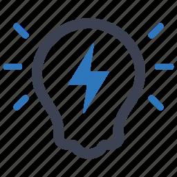 brainstorming, bulb, creative, creativity, idea, thinking icon