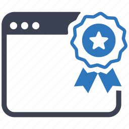 award, certified, marketing, page, ribbon, seo, webby icon
