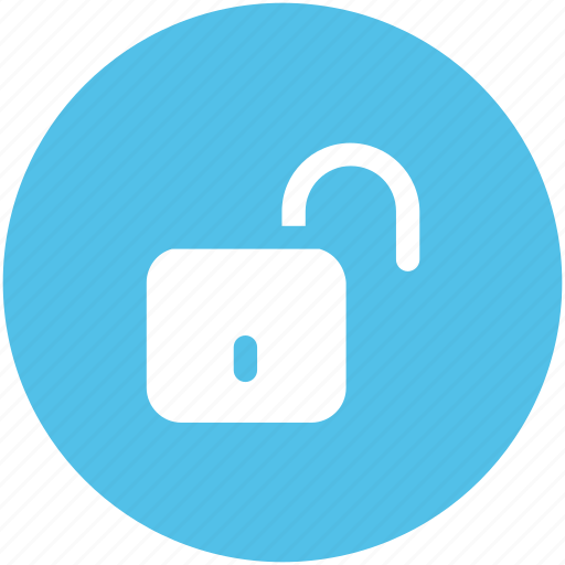 open padlock, safety, unlocked, unlocked padlock, unlocking icon