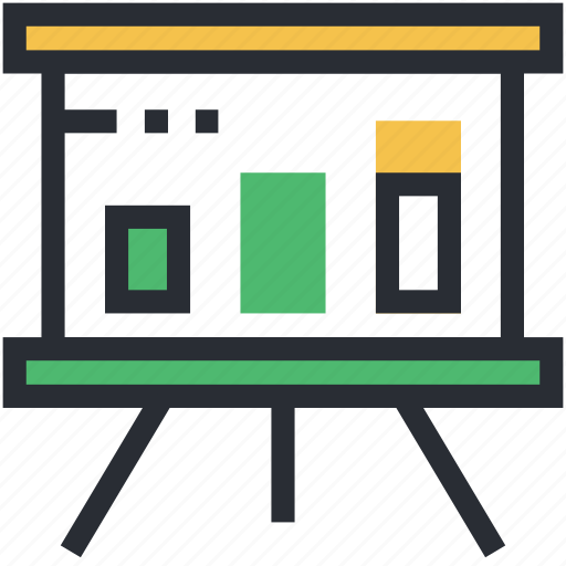 business analysis, business chart, business presentation, presentation, projection screen icon