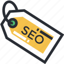 label, search engine optimization, seo, seo infographic, seo tag icon