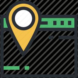 cyberspace, map marker, navigation concept, online navigation, website icon