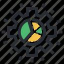 business chart, business element, gearwheel, marketing, pie chart
