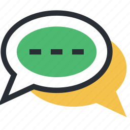 babbling, chat bubbles, chatting, online chatting, talk icon