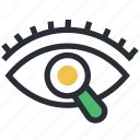 eye, magnifier, search, see, vision icon