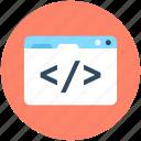 div, html coding, html language, html tag, web coding icon