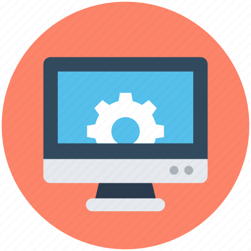 cog, lcd, monitor configuration, monitor settings, web development icon