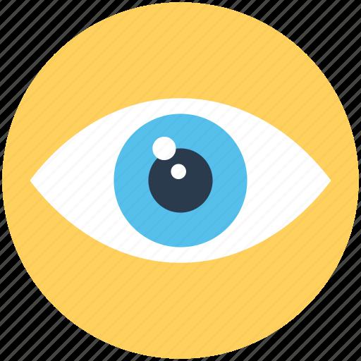 eye, retina, spectrum, view, visible icon