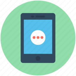 chat bubble, mobile, mobile communication, mobile messenger, technology icon