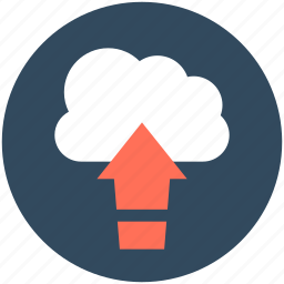cloud computing, cloud transfer, cloud upload, cloud uploading, data transmission icon