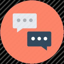 chat bubbles, comments, communication, speech bubble, talk icon