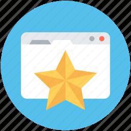digital marketing, rating star, seo, web ranking, web rating, website icon
