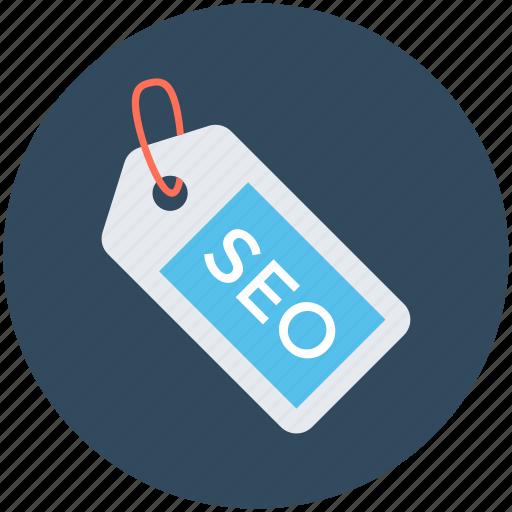 internet marketing, search engine optimization, seo, seo label, seo tag icon