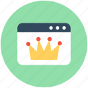 crown, seo, web quality, web ranking, website icon